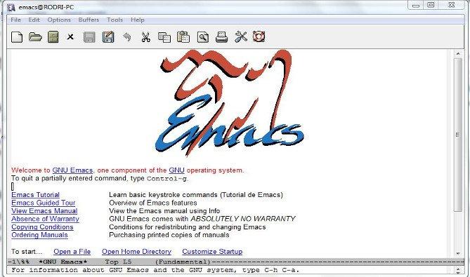 Emacs editor de texto