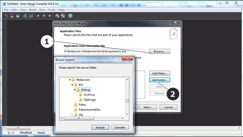 Como crear un instalador o setup con INNO SETUP paso 3