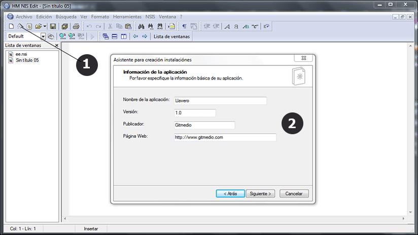 Como crear un instalador o setup con Nullsoft Scriptable NSIS paso 1
